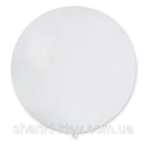 Шар латексный гигант 55 см. с гелием белый, фото 2