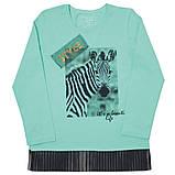 Детская футболка с длинными рукавами для девочки FT-19-08 *Модняшка* (размер 104,110,116), фото 5