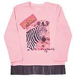 Детская футболка с длинными рукавами для девочки FT-19-08 *Модняшка* (размер 104,110,116), фото 3