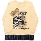 Детская футболка с длинными рукавами для девочки FT-19-08 *Модняшка* (размер 104,110,116), фото 2