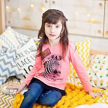 Детская футболка с длинными рукавами для девочки FT-19-08 *Модняшка* (размер 104,110,116)