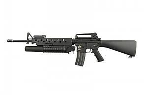 Штурмова гвинтівка з підствольним гранатометом Specna Arms M16 SA-G02 Black