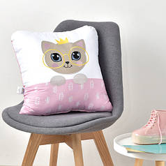 Декоративная подушка Кошечка розовая