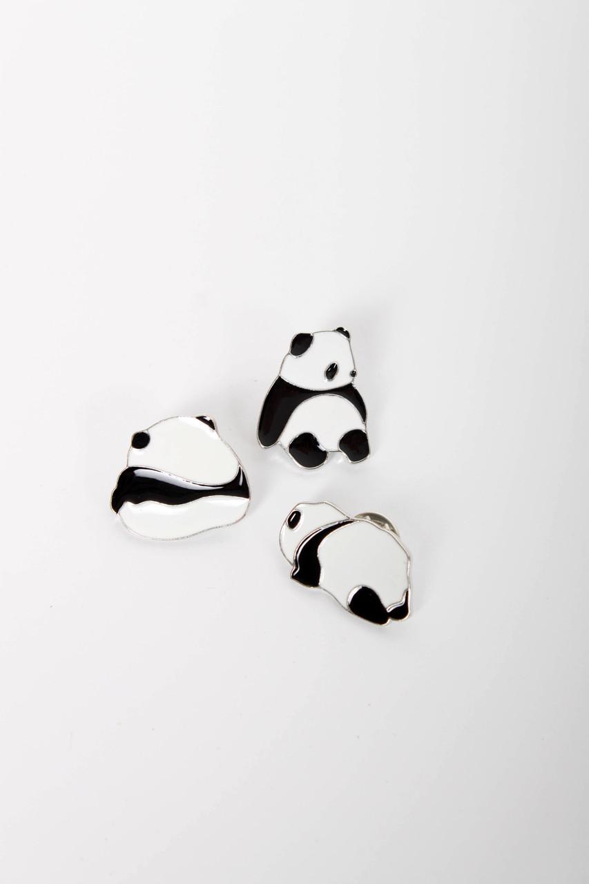 Брошки FAMO Набор брошек Панда черно-белый (3) Длина 1.7/2.8/2.4(см) / Ширина 2.8/2.2/2.5(см) (X30-60)