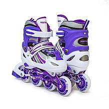 Детские ролики Power Champs. фиолетовый цвет, размер 29-33