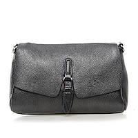 Женская кожаная сумка на плечо 8778-9 silver-grey купить женский кожаный клатч, кожаная сумка, фото 1