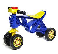 Детский байк беговел толокар для детей 4 колеса в виде велосипеда  для толкания ногами ORION Синий