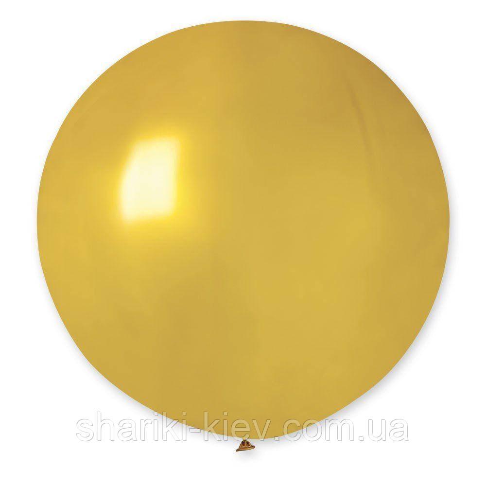 Шар латексный гигант 55 см. с гелием золотой