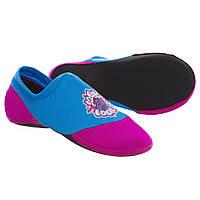 Детская обувь для йоги и спорта Skin Shoes Mad Wave SPLASH Полиамид Бирюзовый-розовый (M037601-BL) 30-31