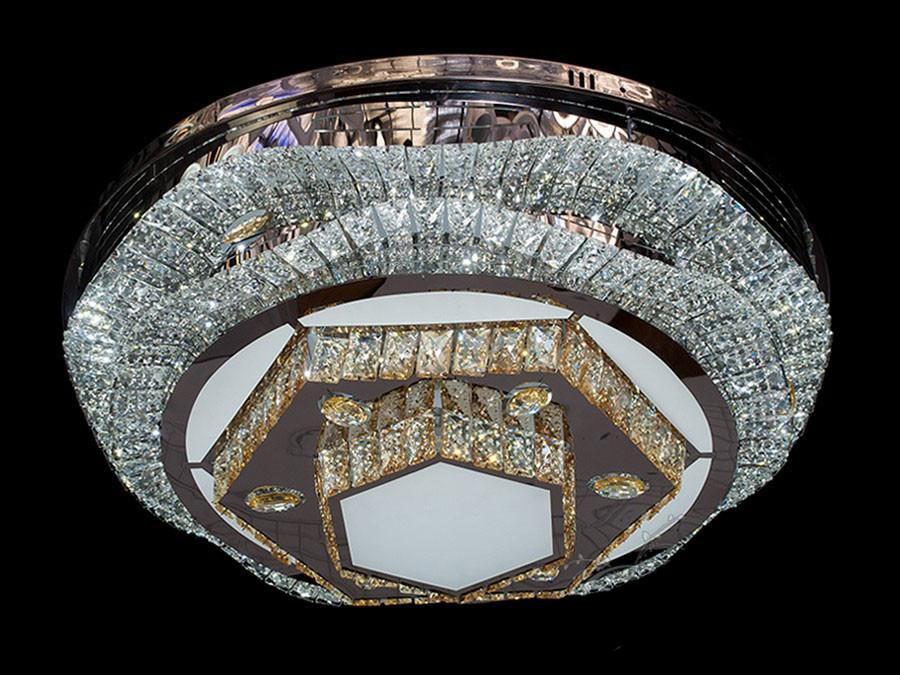 Хрустальная потолочная  LED-люстра до 25 кв. цвет хром 150W Diasha&1101/800