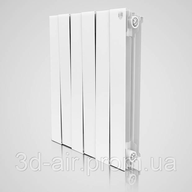 Радіатор біметалічний Royal Thermo Pianoforte 500 Bianco Traffico 8 секцій (білий)