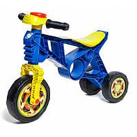 Детский байк беговел толокар для детей 3 колеса в виде велосипеда  для толкания ногами ORION Синий