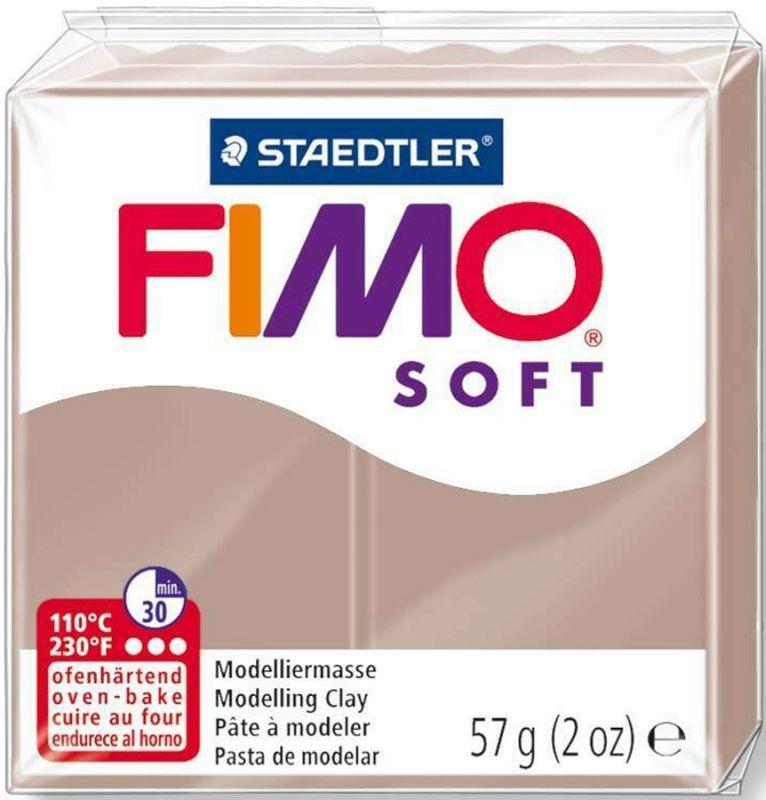 Пластика Soft, Серо-коричневая, 57 г, Fimo