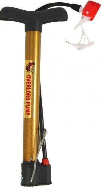 Насос напольный ручной для мячей, велосипедов YW1852 (пластик, алюмин, l-32см)