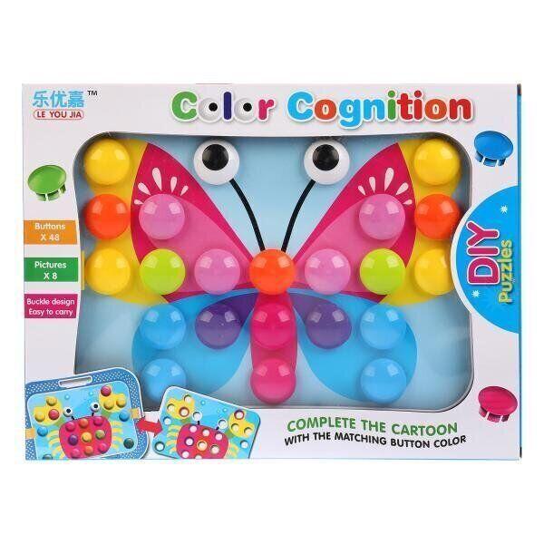 Мозаика для самых маленьких Пуговицы Бабочка Color cognition 666