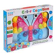 Мозаика для самых маленьких Пуговицы Бабочка Color cognition 666, фото 2