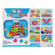 Мозаика для самых маленьких Пуговицы Бабочка Color cognition 666, фото 4