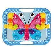 Мозаика для самых маленьких Пуговицы Бабочка Color cognition 666, фото 5