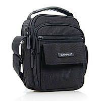Мужская сумка-планшет нейлон Lanpad 98772 черная, фото 1