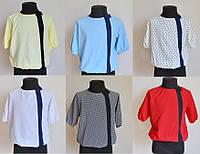 Детская школьная блузка для девочек 5-8 лет, разные цвета, фото 1