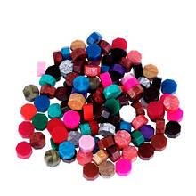 Воск для сургучной печати, сургуч таблетка 8.5х5мм, разноцветный, 50г BTB