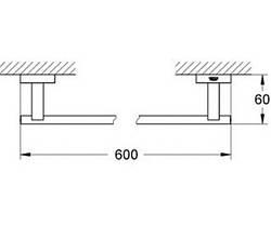 Полотенцедержатель Grohe Essentials Cube 40509001, фото 3