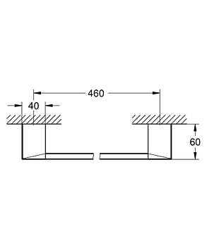 Полотенцедержатель Grohe Selection Cube 40767000, фото 2