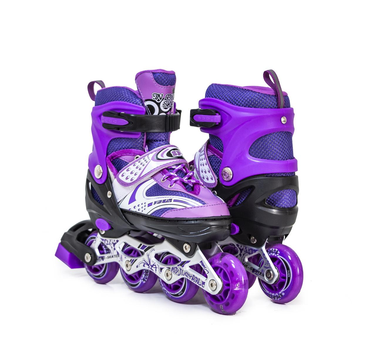 Детские ролики Happy, фиолетовый цвет, размер 29-33