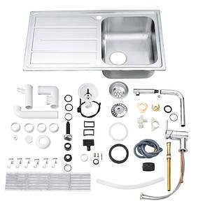 Набор кухонная мойка Grohe EX Sink 31573SD0K500 и смеситель Grohe Minta 32168000, фото 2