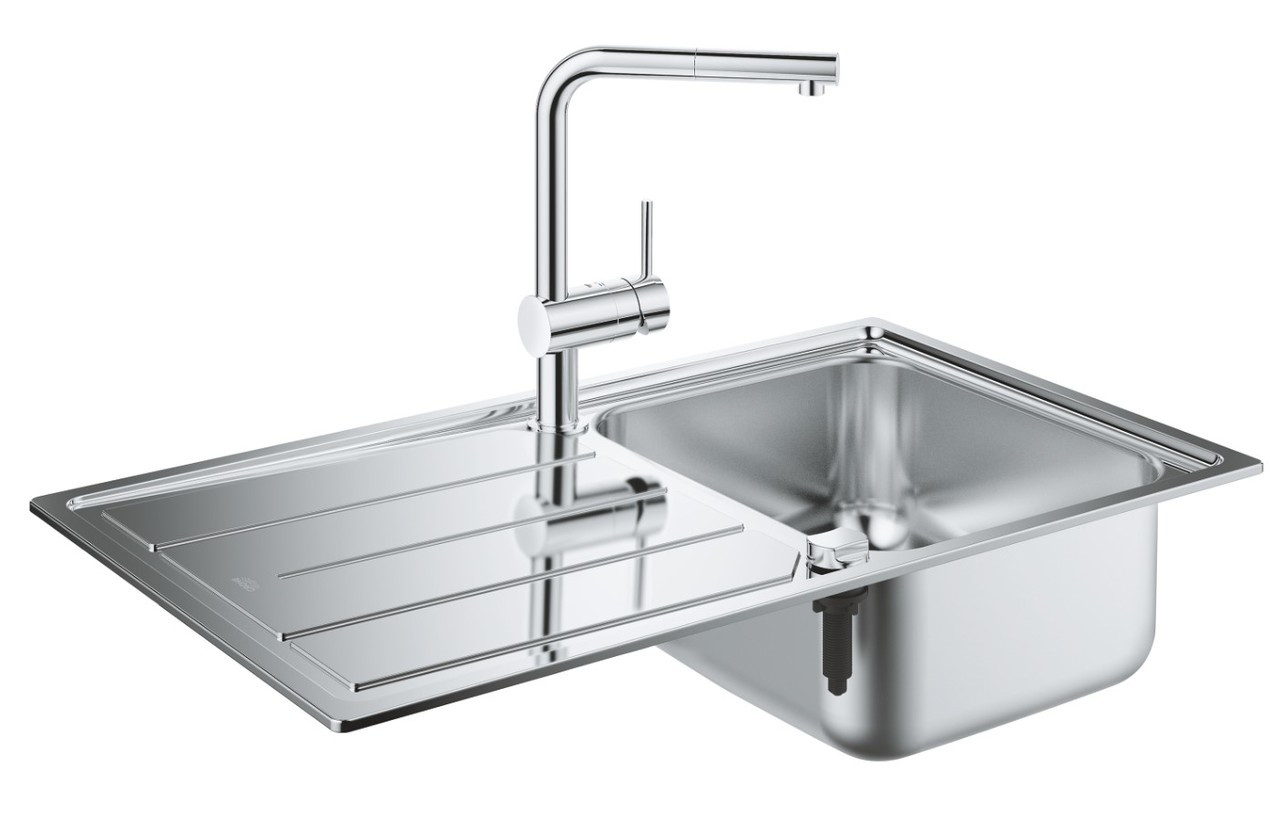 Набор кухонная мойка Grohe EX Sink 31573SD0K500 и смеситель Grohe Minta 32168000