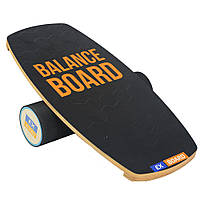 Балансборд Ex-board 3D чорний валик 13 см в гумі (ex62)