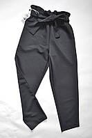Детские классические брюки для девочек 4-12лет, черного цвета, фото 1
