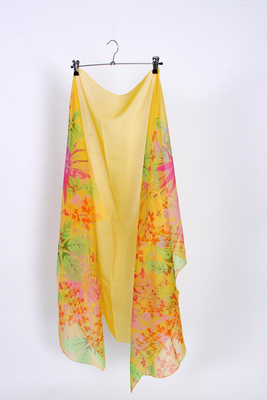 Парео пляжное ярко-желтый цвет и оригинальный принт ОПТ и Дроп