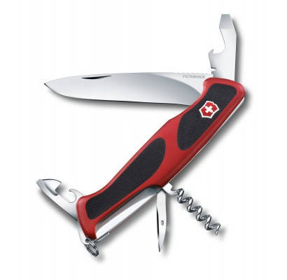 Ніж Victorinox Delemont RangerGrip 68 0.9553.C Чорно-червоний, фото 2