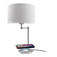 Настольная LED лампа Macally с беспроводной зарядкой Qi 10W и зарядным USB-А портом (5V 2A) White (LAMPCHARGEQI-E)