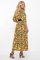 Платье  макси из принтованного штапеля Размеры 52, 54, 56, 58, фото 3