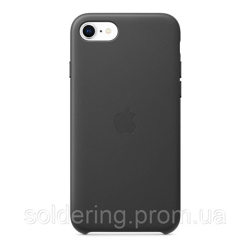 Чехол Apple Leather Case для iPhone SE 2020 Black Original (MXYM2ZM/A)