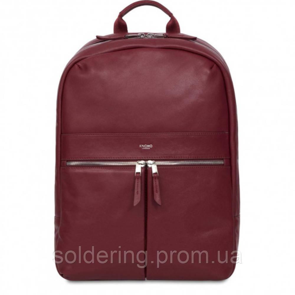 "Рюкзак Knomo Beaux Leather Backpack 14"" Burgandy (KN-120-401-BUR)"