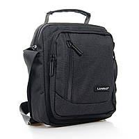 Мужская сумка-планшет нейлон Lanpad 8174 черная, фото 1