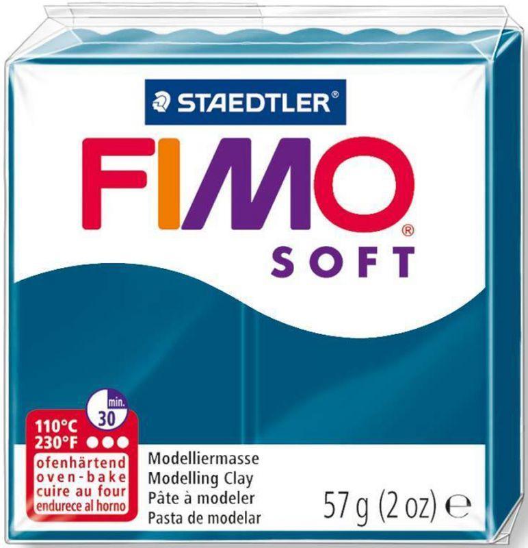 Пластика Soft, Синяя калипсо, 57 г, Fimo