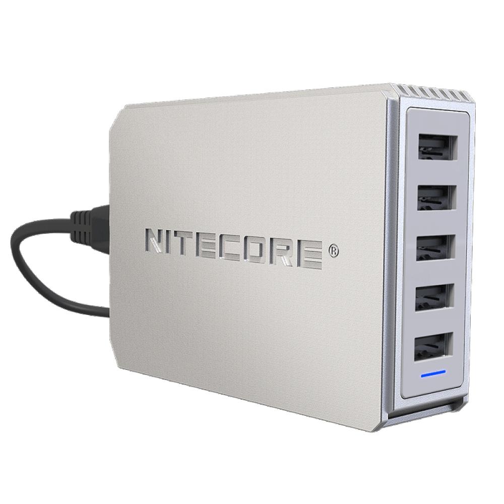Мережевий зарядний пристрій Nitecore UA55 50W 5xUSB White (6-1360)