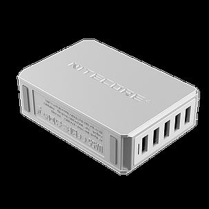 Мережевий зарядний пристрій Nitecore UA55 50W 5xUSB White (6-1360), фото 2