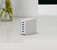 Мережевий зарядний пристрій Nitecore UA55 50W 5xUSB White (6-1360), фото 3