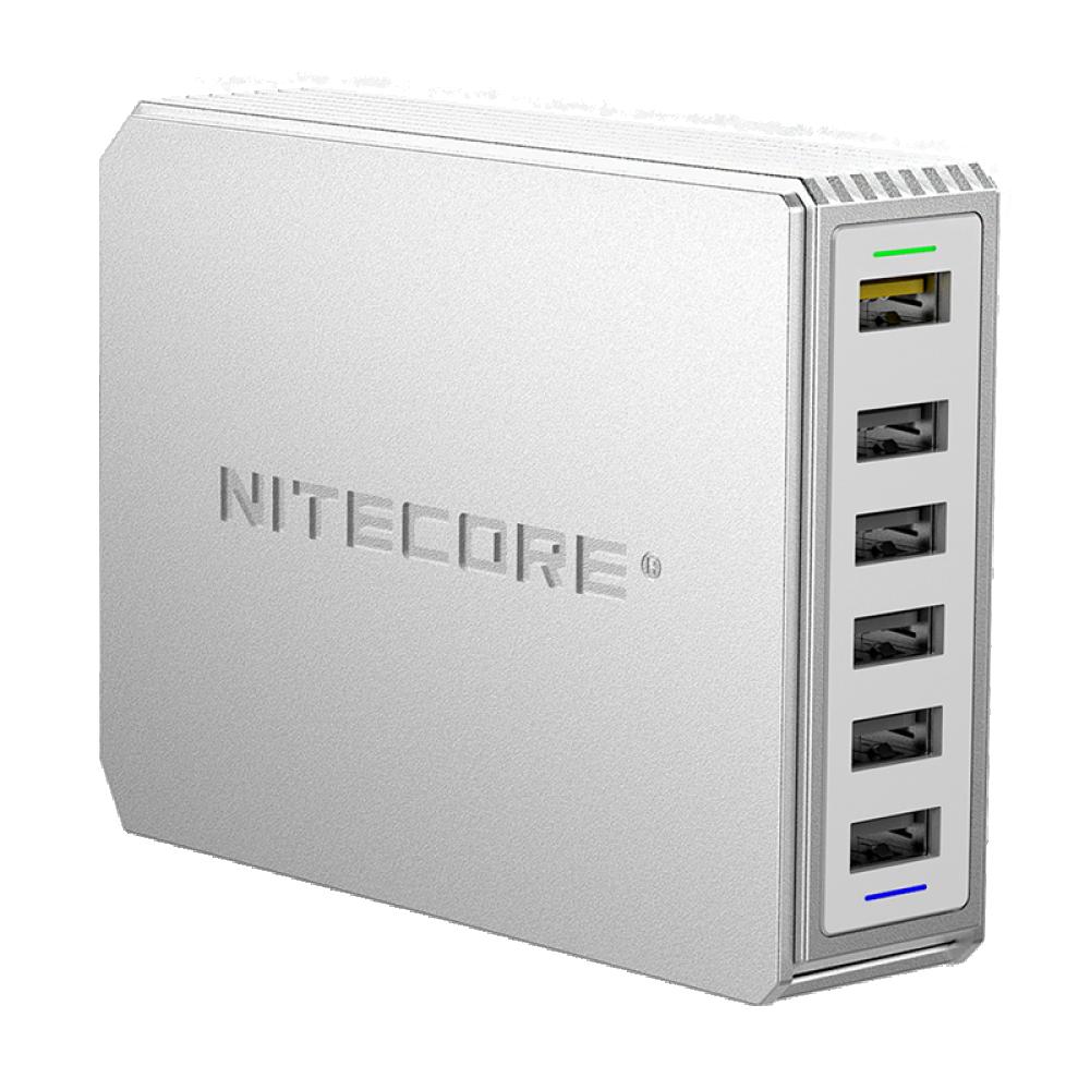 Мережевий зарядний пристрій Nitecore UA66Q 68W 1USB-QC3.0/4USB-QC2.0 White (6-1358_66)