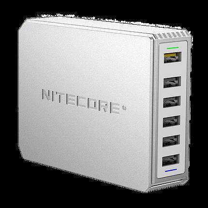 Мережевий зарядний пристрій Nitecore UA66Q 68W 1USB-QC3.0/4USB-QC2.0 White (6-1358_66), фото 2
