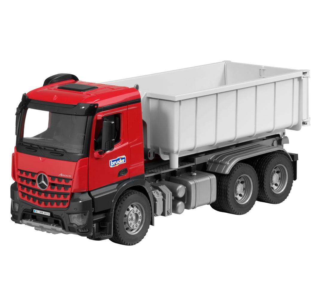 Іграшка вантажівка Mercedes-Benz Arocs, 6x4, Abrollcontainer mit Figur, артикул B66006044