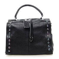 Женская кожаная сумка на плечо 8760-9 black купить женский кожаный клатч, кожаная сумка, фото 1