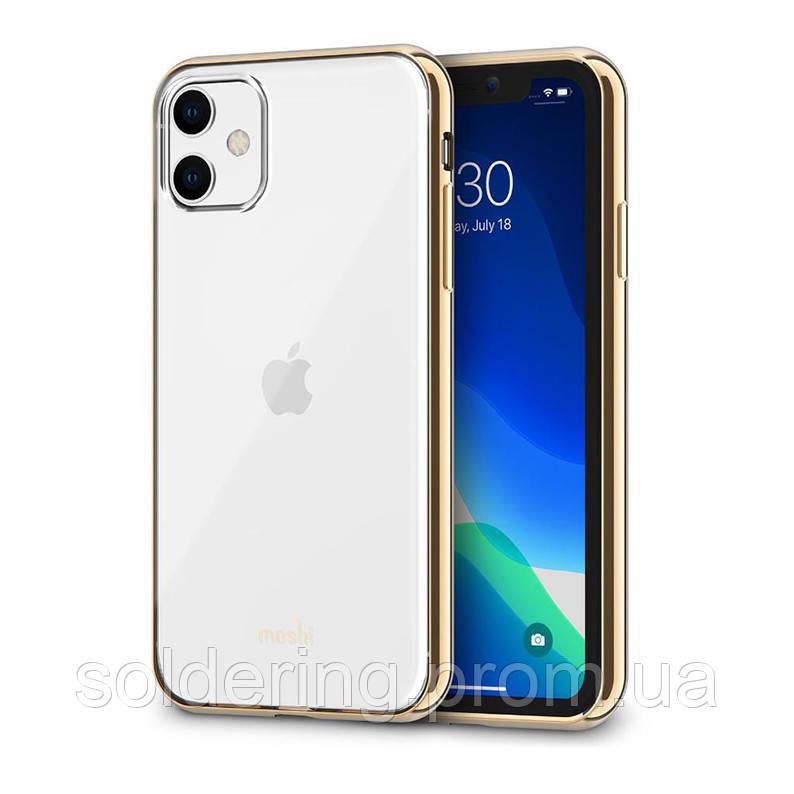 Чехол Moshi Vitros Slim Clear Case Champagne Gold для iPhone 11 (99MO103304)