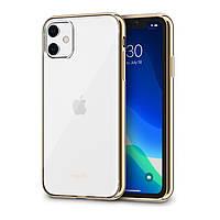 Чехол Moshi Vitros Slim Clear Case Champagne Gold для iPhone 11 (99MO103304), фото 1