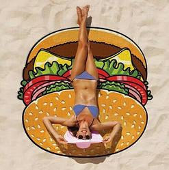 Полотенце пляжное Гамбургер (IMP_73_BURGER)